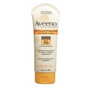 Aveeno Active Naturals Continous Protection Sunblock Face Lotion, SPF 100, 3 oz